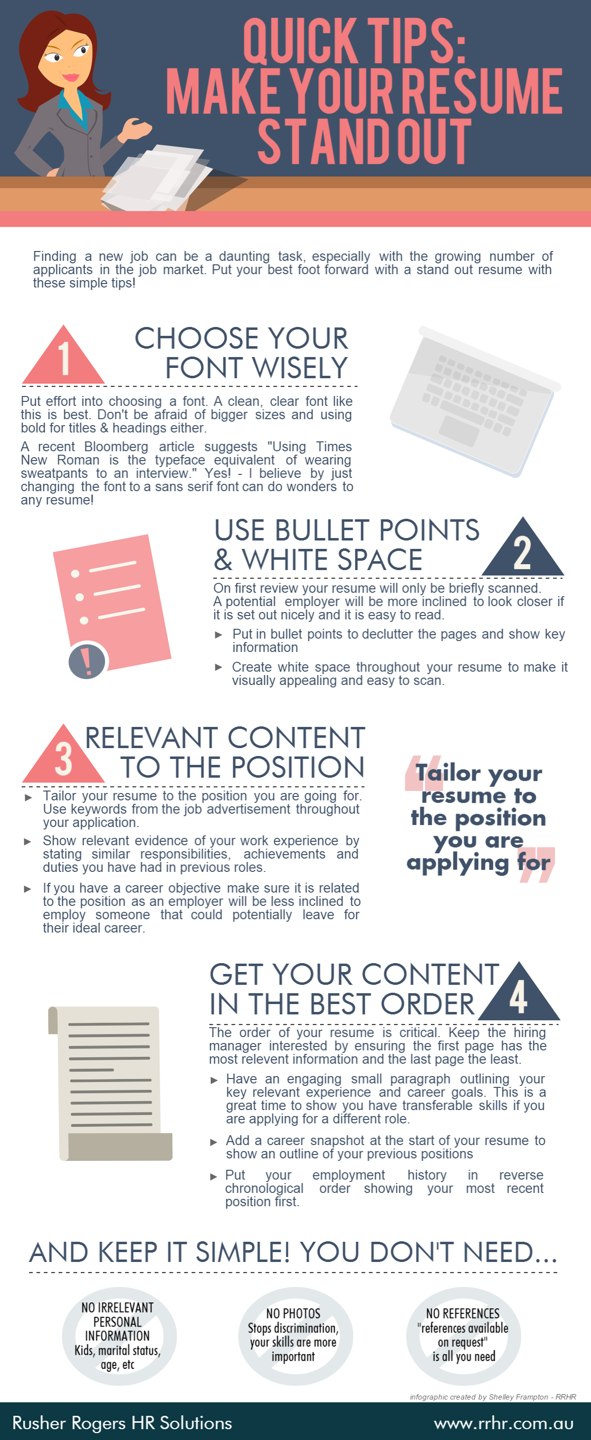 tips make your resume stand out infographic