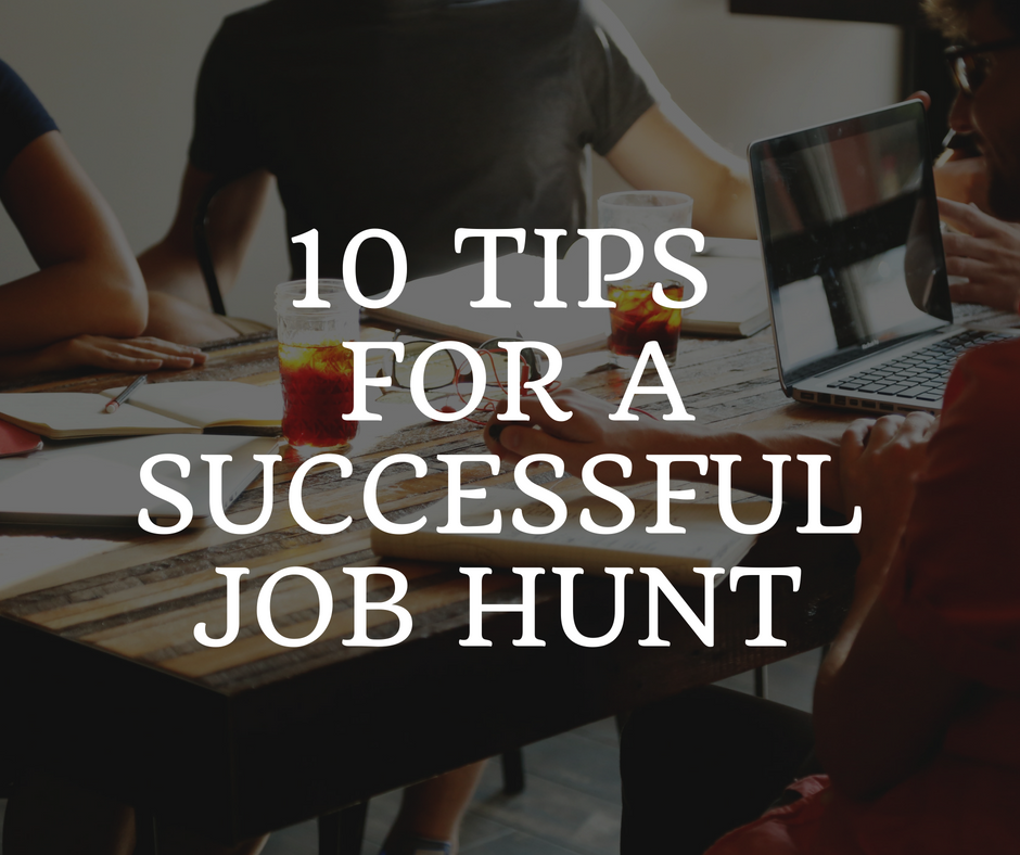 10 Tips for a successful job hunt feature image